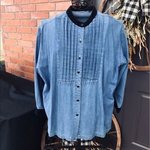 Women's Denim Button Up Shirt VINTAGE